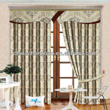 Yarn-dyed Jacquard blackout curtain with europe style